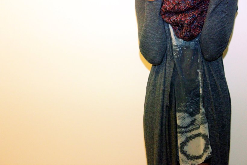 Left coast dolan gray maxi cardigan anthropologie