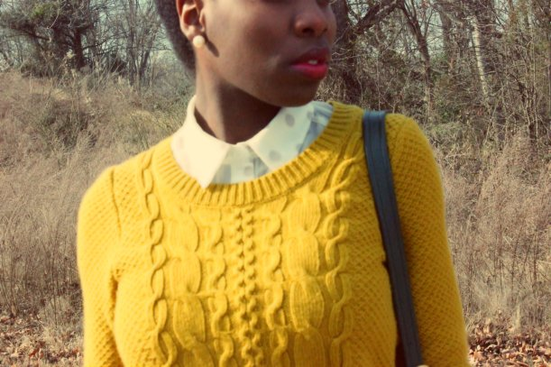 mustard yellow cable knit merona sweater
