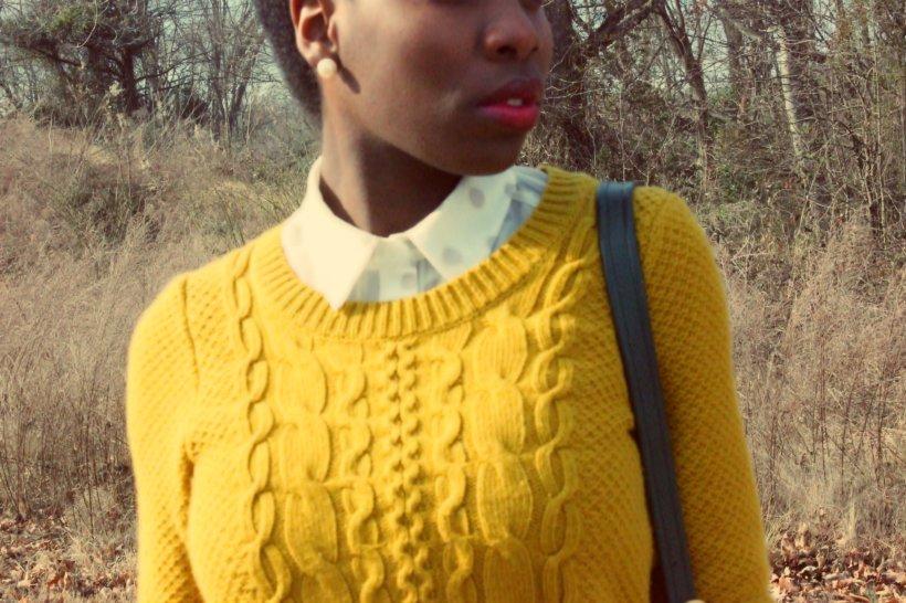 mustard yellow cable knit merona sweater